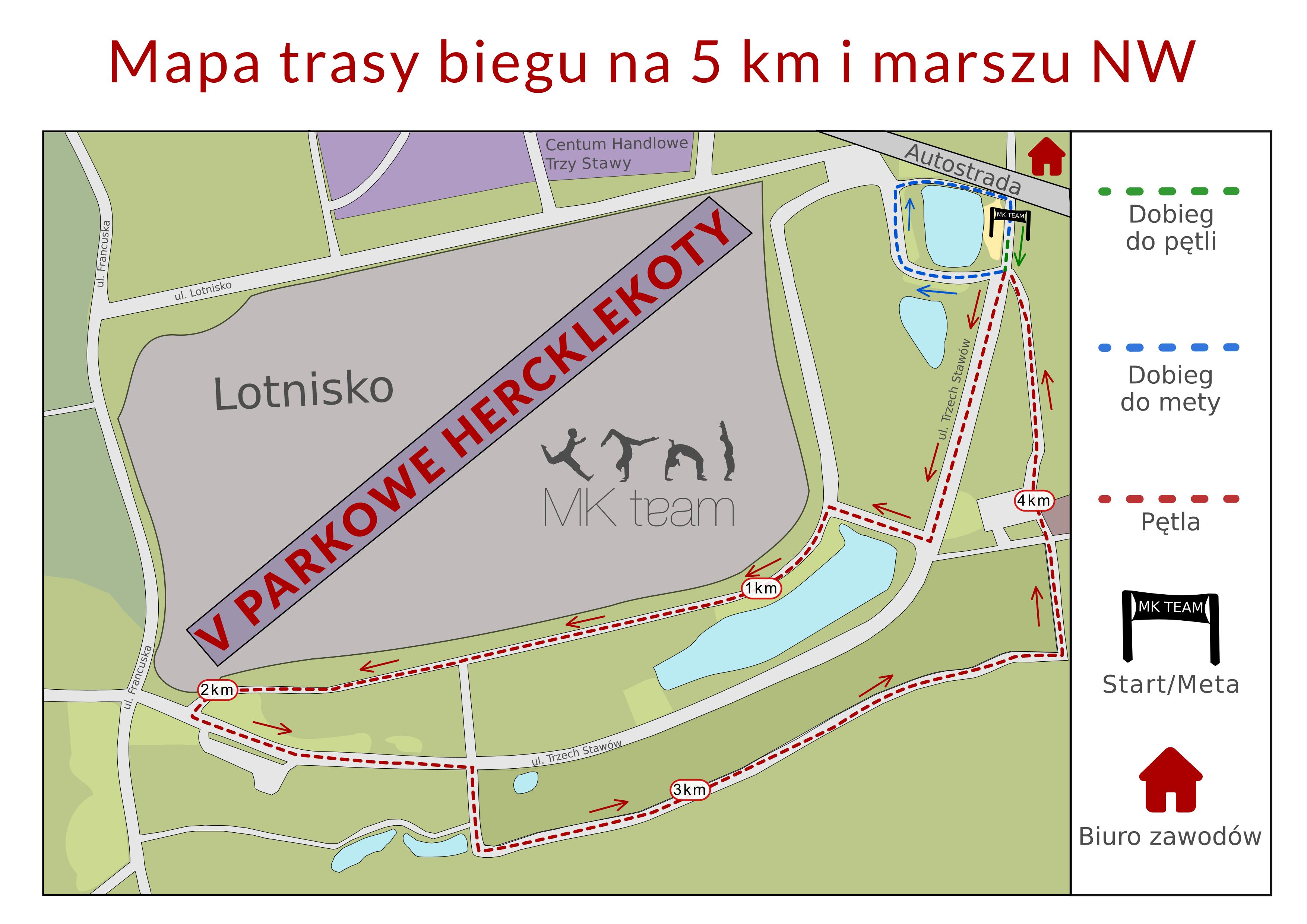 Mapa trasy 5 km