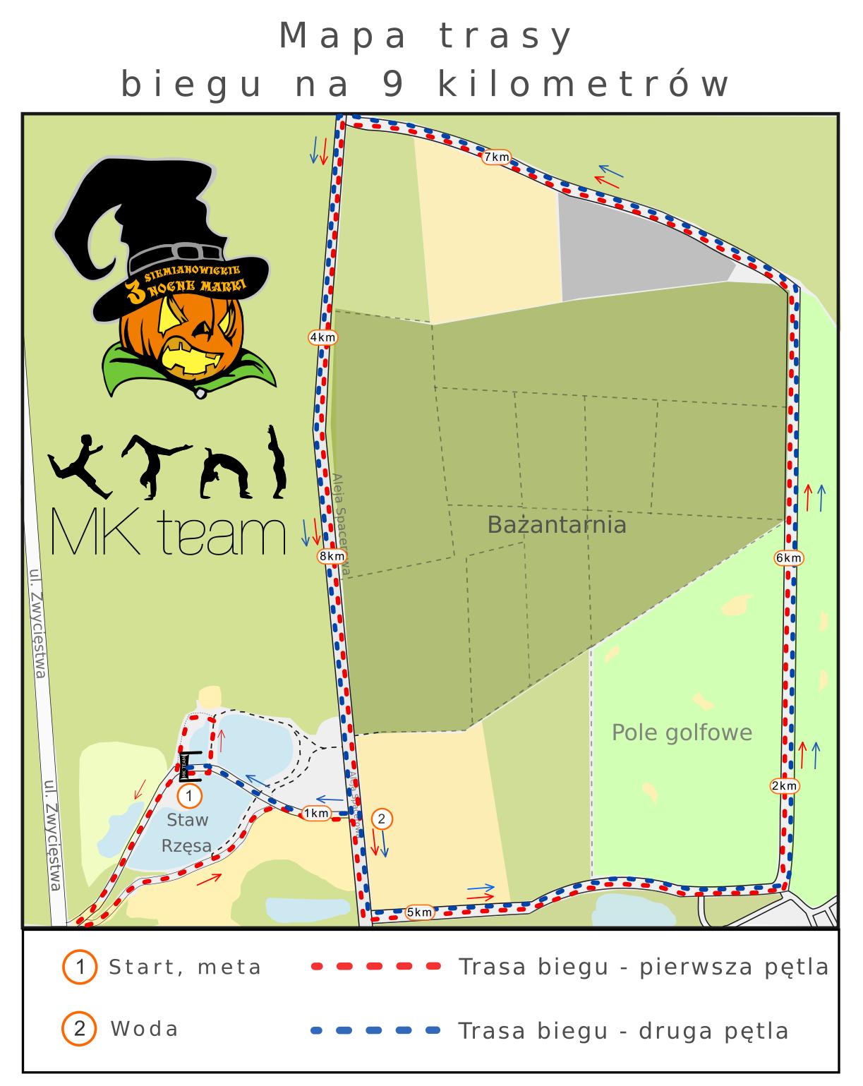 Trasa biegu 9 km