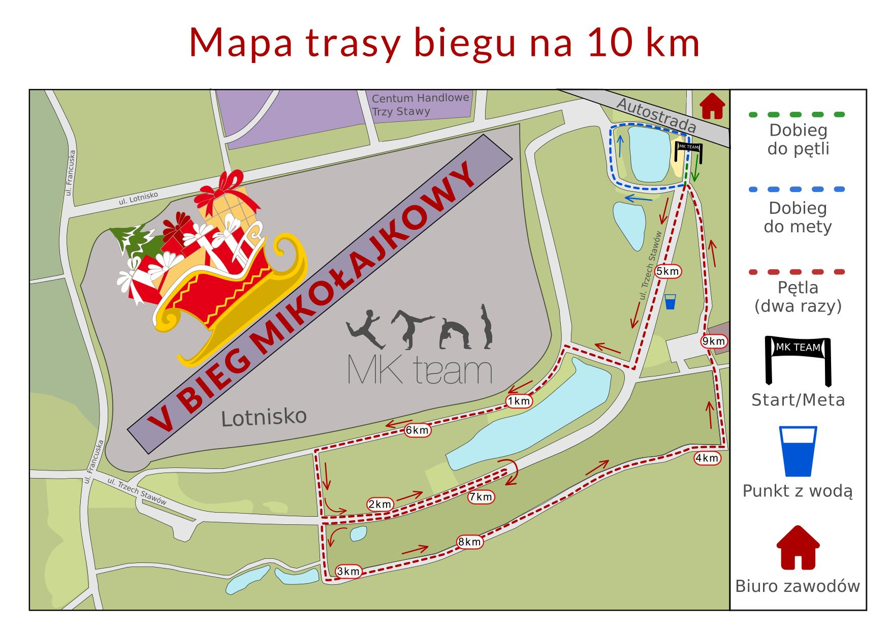 Mapa 10 km