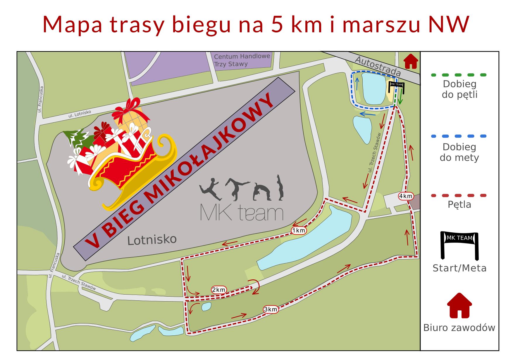 Mapa 5 km